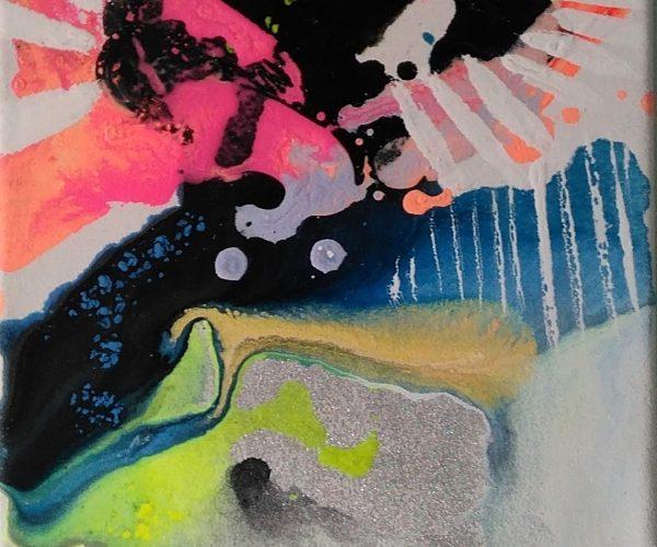 1 MM Abstrakcja 1 z Cyklu Z różowym 15x20 cm