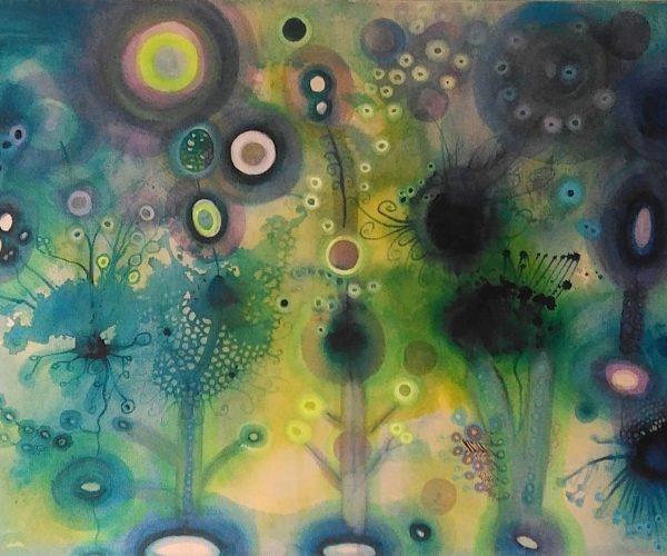 2 MM Abstrakcja zielona 58x85 cm