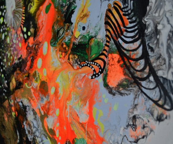 4 MM Abstr Pomarańczowa fragm.