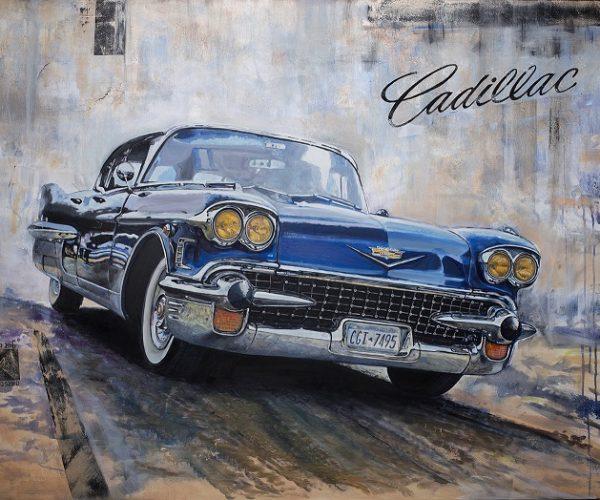 DZ Cadillac obraz olejny 90x120 cm